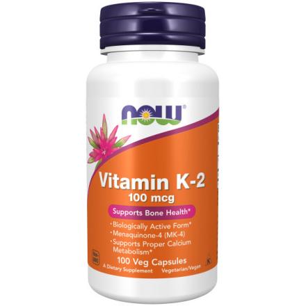 Капсульні вітаміни NOW ВІТАМІН К-2 100мкг у капсулах, 100 шт