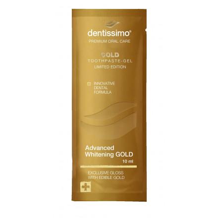 Сашет Зубна паста Dentissimo Advanced Whitening Gold, 10 мл