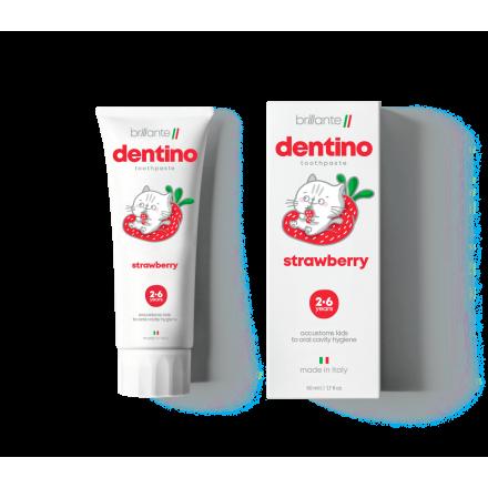 Зубна паста-гель  dentino Strawberry Kids (2-6 років), 50 мл