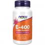 Капсульні вітаміни NOW ВІТАМІН Е-400 у м'яких капсулах, 100 шт