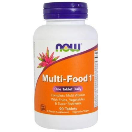 Вітаміни в таблетках NOW MULTI-FOOD 1 мультивітамінний комплекс у таблетках, 90 шт
